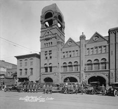 Fire Department headquarters, 1920. :: Caufield & Shook Collection