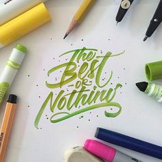 Awesome crayola lettering. Type by @mdemilan | #typegang - typegang.com | typegang.com #typegang #typography
