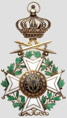 Order of Leopold (military), Grand Cordon badge, 2nd model 1839-1951. rev