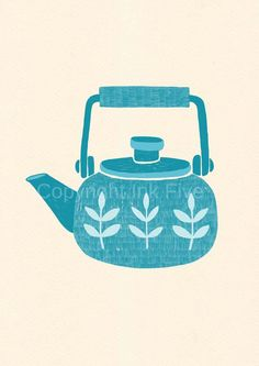 Tea Pot via Etsy