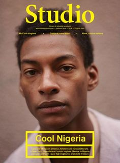 British-Nigerian model Ty Ogunkoya on the February 2014 cover of Italian magazine Rivista Studio for their 'Cool Nigeria' issue. Whether or not this is simply part of the 'Cool Africa/Africa rising' trend we're seeing a lot of in Western pop culture. Poster Layout, Design Poster, Print Layout, Print Design, Poster Designs, Magazine Ideas, Magazine Wall, Graphic Design Magazine, Magazine Cover Design