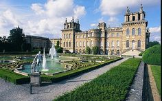 Blenheim Palace and some of its surrounding gardens.  This is the birthplace of Winston Churchill, and still the home of Lord Marlboro.