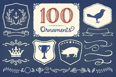 Charcuterie Ornaments ~ Symbol Fonts on Creative Market