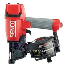 Step up to the tough and dependable Senco RoofPro 445XP Pneumatic 11 Ga. 15 deg. Coil Roofing Nailer Coil Nailer, Roofing Nailer, Finish Nailer, Power Out, Wrench Tool, Gray Nails, Metal Building Homes, High Walls, Steel House