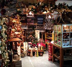 Flea market booth for christmas at Kiehl Avenue Flea Market.