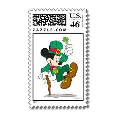 Mickey the Leprechaun Postage Stamps