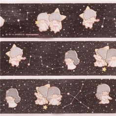 cute Little Twin Stars constellation dot mt Washi Masking Tape deco tape 1