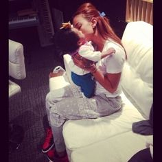 Sasha is in the music career and she still makes time for her baby,Serina.I love how she brings her to the studio.