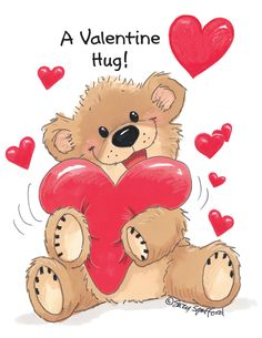"Suzy's Zoo Valentines Cards ""A Valentine Hug"" 10954 by Suzy's Zoo… Bear Valentines, Valentines Greetings, Valentine Greeting Cards, Happy Valentines Day, Urso Bear, Cute Teddy Bears, Tatty Teddy, Bear Art, Suzy"