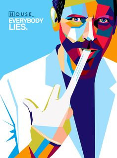 House MD poster vector polygone