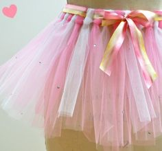 DIY Spring Tutu!  Link shows the complete steps to make this tutu.  you can double the layers to make a fuller tutu.
