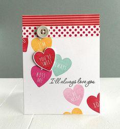 Keep It Simple: Love Mini Stamp Set: Papertrey Ink Clear Stamps Dies Paper Ink Kits Ribbon