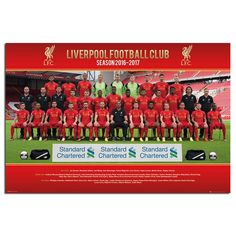 Liverpool FC Team Squad 2016 - 2017 Poster | iPosters