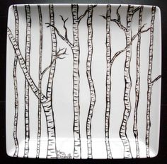 Birch plate, simple design to do
