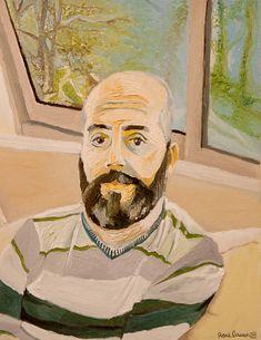 Roee Lavan's self portrait, oil on canvas, 2019 Oil On Canvas, Landscape, Portrait, Painting, Art, Art Background, Scenery, Headshot Photography, Painting Art