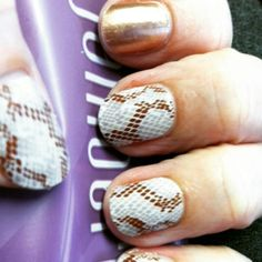 Jamberry Nails Snakeskin Matte and Rose Gold