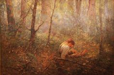 "Frederick McCubbin's ""Lost"" (1907) NATIONAL GALLERY OF VICTORIA, MELBOURNE"