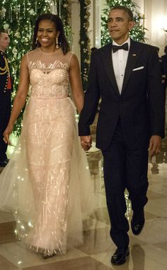 Michelle Obama Dazzles in Monique Lhuillier Gown at the Kennedy Center Honors?See the Pic!
