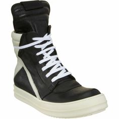 Rick Owens Side Zip High Top Sneaker at Barneys.com