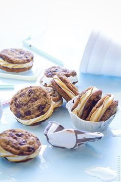 Chocolate Chip Smores Sandwich Cookies via Bakers Royale