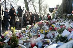Tributes outside George's home