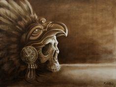 Aztec Skull by ShawnMahaffey.deviantart.com on @deviantART