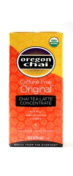 CAFFEINE FREE CHAI CONCENTRATE: Our best-selling recipe!  A perfect combination of black tea with honey, spices and vanilla in a caffeine-free format.  Simply combine concentrate half & half with milk for a traditional chai latte. #oregon #chai #kerry #foodservice