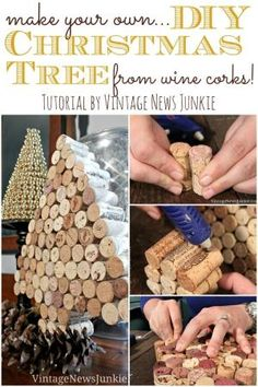 Make Your Own DIY Christmas Tree from Wine Corks #12Daysof Trees by geraldine