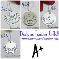 www.expressionsstamped.com Teacher's gifts, end of school year, gift for teacher