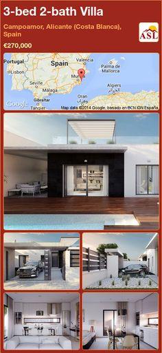 3-bed 2-bath Villa in Campoamor, Alicante (Costa Blanca), Spain ►€270,000 #PropertyForSaleInSpain
