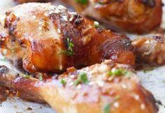 Pollo horneado al jengibre y ajo
