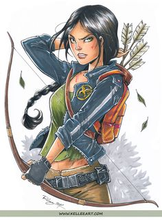 Katniss commission from Megacon. Micron pens, Copic markers and white gel pen on Bristol paper. Inks here: ©Kellee Riley and KelleeArt Design Studio, LTD. WEBSITE || FACEBOOK&nbsp...
