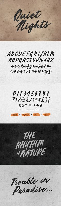 Quiet Nights - Desktop Font & WebFont - YouWorkForThem