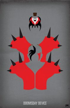 WWF Legends Minimalist Poster - 'Road Warriors / Legion of Doom'. $20.00, via Etsy.