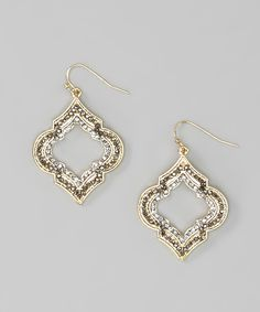 Silver & Gold Arabesque Earrings