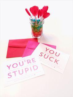 Free Printable Valentine's Day Cards that are Silly! http://www.weddingchicks.com/2015/02/02/frienemy-valentines-day-cards/