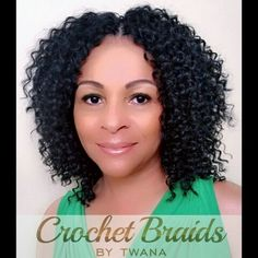 Crochet Braids with Isis Carribean Collection Cuban Ripple in color 1B…