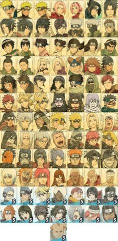 Naruto characters. This is just too cool! I love it!