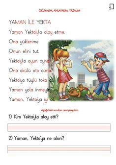 Learn Turkish, Turkish Language, Classroom Activities, Asd, Special Education, Worksheets, Blog, Learning, School