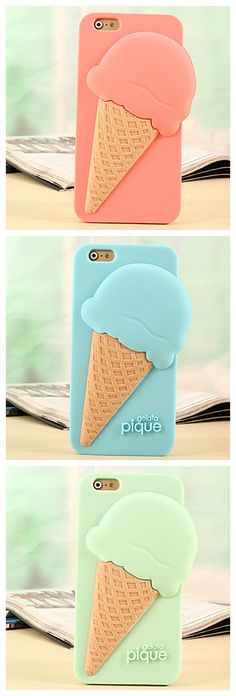 Macaroon color ice cream design phone cases, wanna a bit of this right?