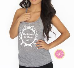 Mirror Mirror on the wall, The Fairest of them all Racerback Tank.Made by Pink Lemonade
