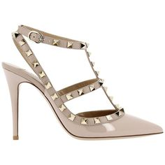 67923b2e2c43 Valentino Rockstud Ankle Strap Court Heels ( 695) ❤ liked on ...