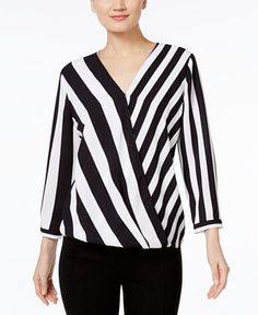 34.99$  Buy here - http://vinle.justgood.pw/vig/item.php?t=ku2go8v33607 - Striped High-Low Blouse, Only at Macy's 34.99$