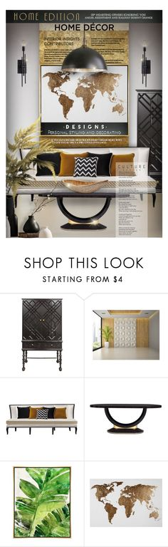 """""""Eclectic design"""" by kseniz13 ❤ liked on Polyvore featuring interior, interiors, interior design, home, home decor, interior decorating, Florence Broadhurst, Barclay Butera, ELK Lighting and Home"""