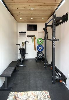 Home Gym Basement, Home Gym Garage, Diy Home Gym, Gym Room At Home, Home Gym Decor, Best Home Gym, Workout Room Home, Workout Rooms, Small Home Gyms