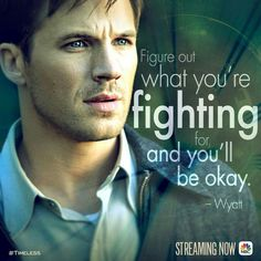 This has been one of the most epic quotes ever on the show ❤ Wyatt is simply the best with Lucy, my favorite characters.  #Timeless