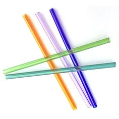 Do something good for yourself and the environment by using these beautifully handcrafted glass straws instead of disposable plastic ones!
