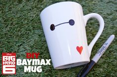 Do you love Disney's Big Hero 6 movie? Make your own DIY Baymax Mug with these easy steps!
