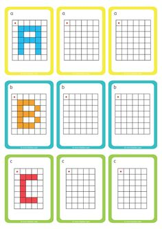 Déplacement dans un Quadrillage GS CP Reproduire les Lettres Coding For Kids, Math For Kids, Fun Math, Math Games, Preschool Learning Activities, Preschool Education, Free Printable Puzzles, Pix Art, Busy Boxes