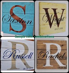 Rustic Distressed Pallet Wood Personalized Family Sign by Makkit